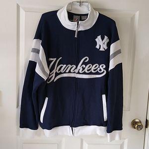 Yankees Full Zip Sweatshirt Jacket Big & Tall Lg